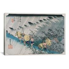 """Shono from the Fifty-Three Stations on Tokaido Highway"" Canvas Wall Art by Utagawa Hiroshige l"