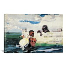 'The Turtle Pound 1898' by Winslow Homer Painting Print on Canvas