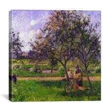 """The Wheelbarrow"" Canvas Wall Art by Camille Pissarro"