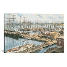 """The Vallejo St Wharf"" Canvas Wall Art by Stanton Manolakas"