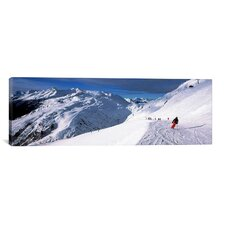 Panoramic 'Sankt Anton am Arlberg, Tyrol, Austria' Photographic Print on Canvas
