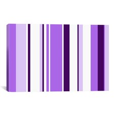 Irises Striped Graphic Art on Canvas