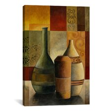 Decorative Art Three Vases by Pablo Esteban Painting Print on Canvas