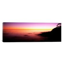 Panoramic Sea at Sunset, Point Lobos State Reserve, Carmel, Monterey County, California Photographic Print on Canvas