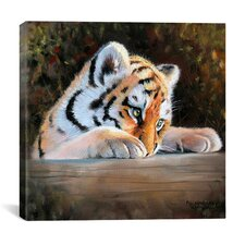 """Tiger Cub Face"" Canvas Wall Art by Pip McGarry"