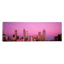 Panoramic Georgia, Atlanta, Panoramic View of the City at Dawn Photographic Print on Canvas