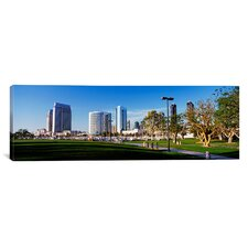 Panoramic California, San Diego, Marina Park Photographic Print on Canvas
