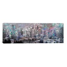Vancouver, Canada Skyline Panoramic 4 Graphic Art on Canvas