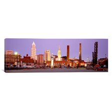 Panoramic Skyline, Cleveland, Ohio Photographic Print on Canvas