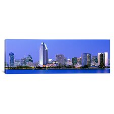 Panoramic Skyline, San Diego, California Photographic Print on Canvas
