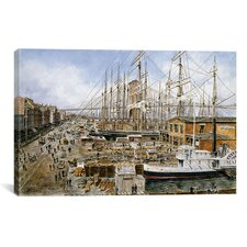 """Wall St. Ferry, New York"" Canvas Wall Art by Stanton Manolakas"