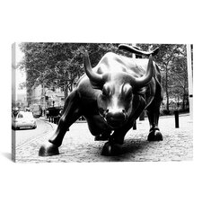 'Political Wall Street Bull' Photographic Print on Canvas