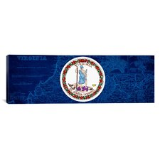 Flags Virginia Panoramic Graphic Art on Canvas
