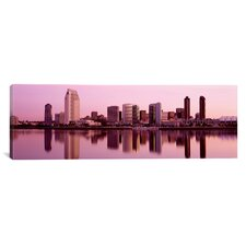 Panoramic Skyline San Diego, California Photographic Print on Canvas