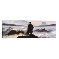 'The Wanderer Above the Sea of Fog' by Caspar David Friedrich Painting Print on Canvas