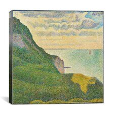 """Seascape at Port-en-Bessin (Normandy)"" Canvas Wall Art by Georges Seurat"