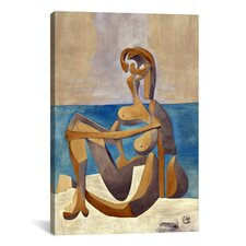 'Seated Bather' by Pablo Picasso Painting Print on Canvas