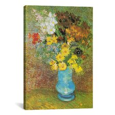 'Vase with Daisies and Anemones' by Vincent Van Gogh Painting Print on Canvas