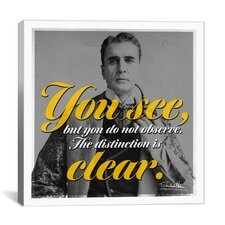 Sherlock Holmes Quote Canvas Wall Art