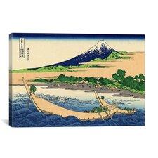 'Shore of Tago Bay, Ejiri at Tokaido' by Katsushika Hokusai Painting Printon Canvas