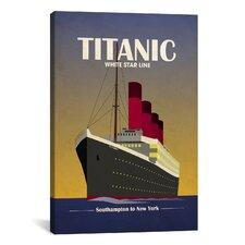 'TitanicOcean LinerArt Deco' by Michael Tompsett Vintage Advertisement on Canvas