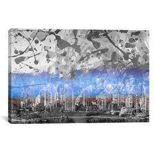 Vancouver, Canada Skyline 2 Graphic Art on Canvas