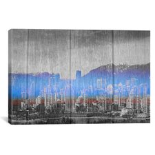 Vancouver, Canada Skyline Graphic Art on Canvas