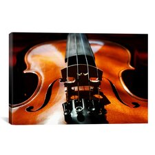 Photography Violin Graphic Art on Canvas