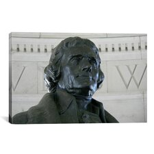 Political Thomas Jefferson Statue Photographic Print on Canvas