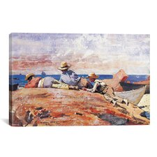 'Three Boys on the Shore 1873' by Winslow Homer Painting Print on Canvas