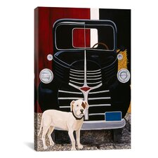 """""""Virgil in Front of the Ranch Truck"""" Canvas Wall Art by Jan Panico"""