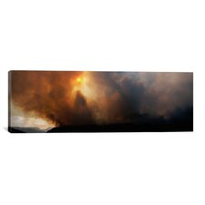 Panoramic Smoke from a Forest Fire, Zion National Park, Washington County, Utah Photographic Print on Canvas