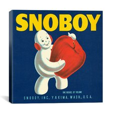 Snoboy Apples Vintage Crate Label Canvas Wall Art