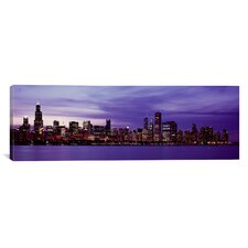 Panoramic Skyscrapers Photographic Print on Canvas