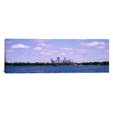 Panoramic Skyscrapers in a City, Chain of Lakes Park, Minneapolis, Minnesota Photographic Print on Canvas