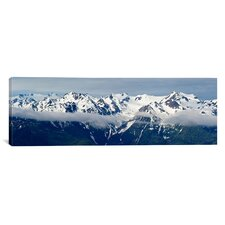 Panoramic Snow Covered Mountains, Hurricane Ridge, Olympic National Park, Washington State Photographic Print on Canvas