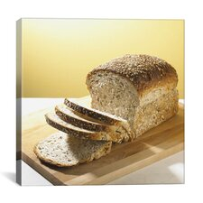 Sliced Brown Bread Photographic Canvas Wall Art
