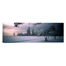 Panoramic North Avenue Beach, Chicago, Illinois Photographic Print on Canvas