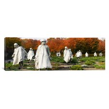 Panoramic Statues of Army Soldiers in a Park, Korean War Memorial, Washington, D.C Photographic Print on Canvas