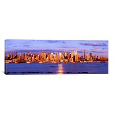 Panoramic 'Skyscrapers in a City, Manhattan, New York City' Photographic Print on Canvas