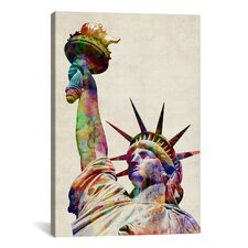'Statue of Liberty' by Michael Tompsett Graphic Art on Canvas