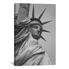 Political Statue of Liberty Photographic Print on Canvas