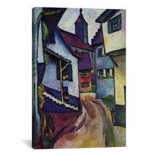 'Street with Church with Kandern' by August Macke Painting Print on Canvas