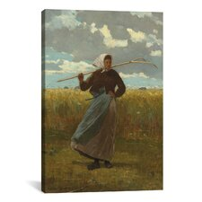 'The Return of The Gleaner 1867' by Winslow Homer Painting Print on Canvas