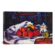 'Still Life Bowl of Apples' by Paul Cezanne Painting Print on Canvas