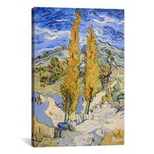 'The Poplars at Saint-Remy' by Vincent Van Gogh Painting Print on Canvas