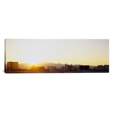 Panoramic Sunrise over a City, Las Vegas, Nevada Photographic Print on Canvas