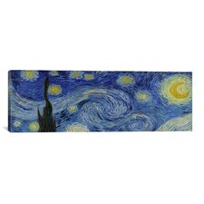 'The Starry Night' Panoramic by Vincent Van Gogh Painting Print on Canvas