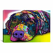 'Savvy Labrador' by Dean Russo Graphic Art on Canvas