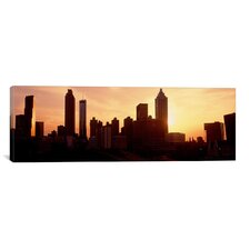 Panoramic Sunset Skyline, Atlanta, Georgia Photographic Print on Canvas